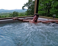 Dave in the hot tub